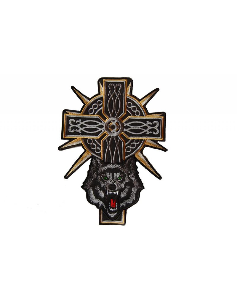 Badgeboy Wolf and Cross 466 R