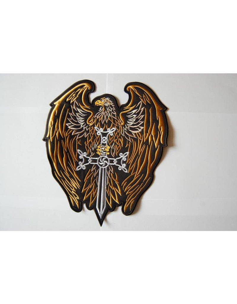 Badgeboy Eagle with Sword Gold 465 R