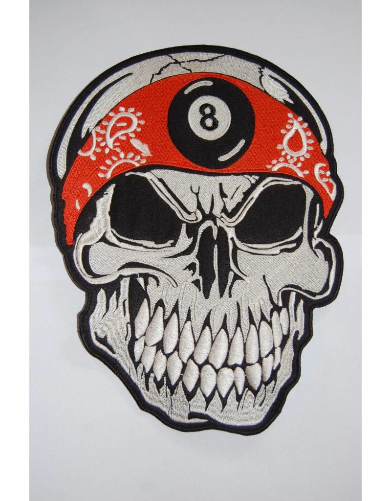 Skull with Bandana orange 8 Ball 498 R