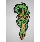 Green Dragon on Sword 123 R