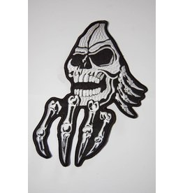 Creepy skull with hand