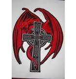 Badgeboy Red Dragon on Cross Nr. 125 R