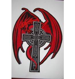 Badgeboy Red Dragon on Cross
