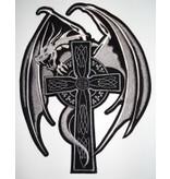 Dragon on Cross White 127 R