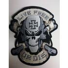 Live Free Skull Black