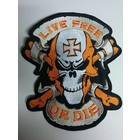 Live Free Skull Orange