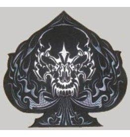 Badgeboy Black Spade skull