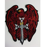 Eagle with Sword red