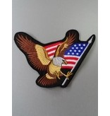 Eagle with flag patriotic