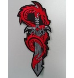 Dragon on Sword red 113 R