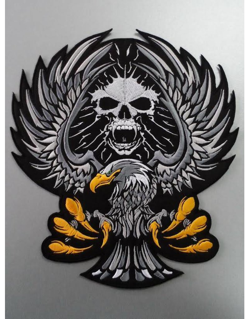 Eagle with Skull black
