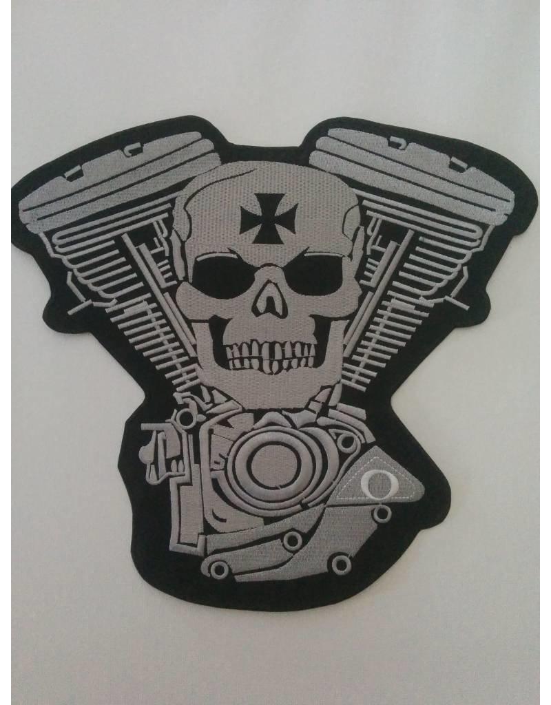 Skull and Engine light grey