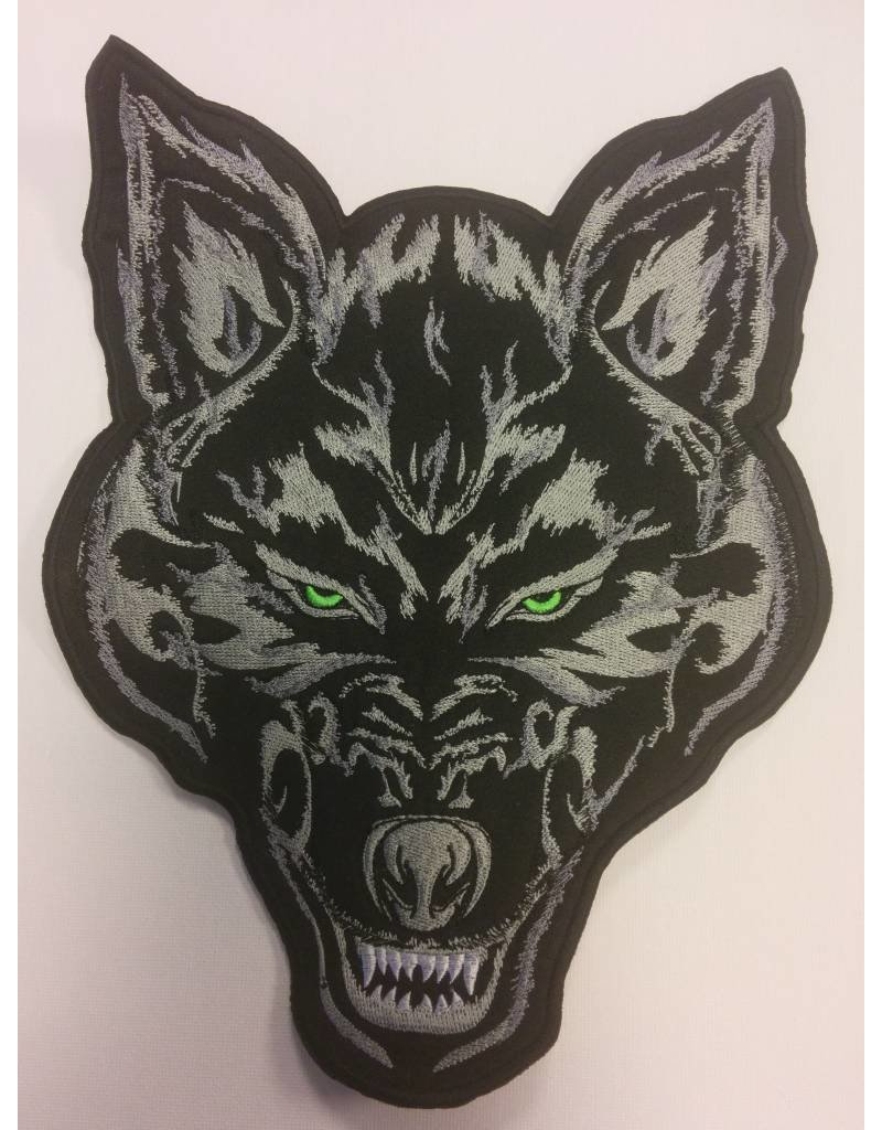 Wolf in Flames black