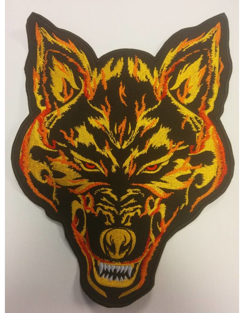 Wolf in flames color