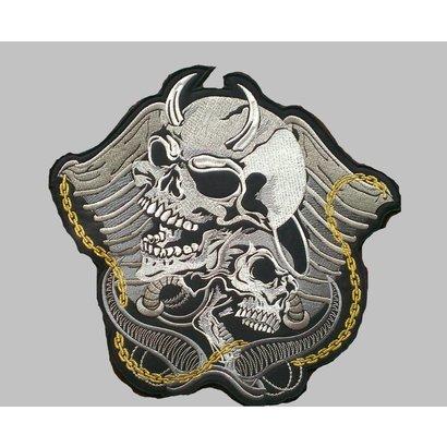 Devil and angel skulls 651