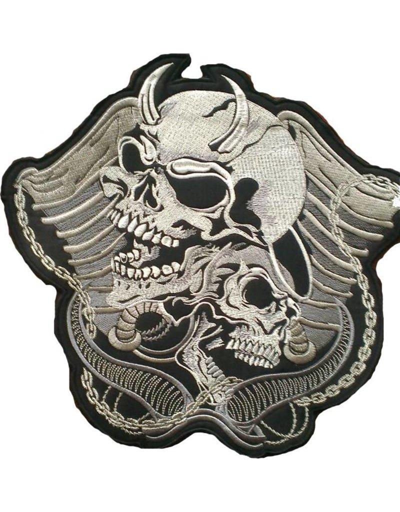 badgeboy Devil and angel skulls 652 R