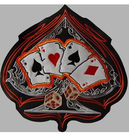 Badgeboy Spade and Cards orange