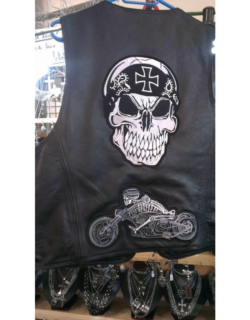 Badgeboy German skull motorcycle 470 R