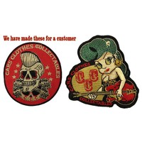 Rock a Billy style patches