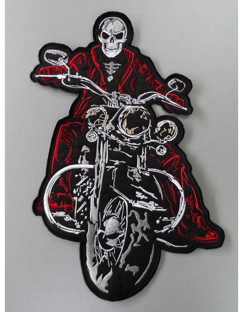 Badgeboy The Biker patch red