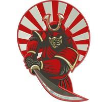 Badgeboy Samurai patch 30 cm
