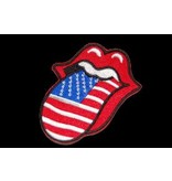 Rolling stones tongue usa patch