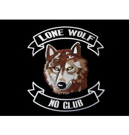 Lone wolf brown large