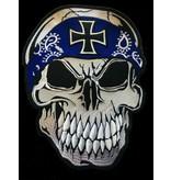 Skull with Bandana blue 656 R
