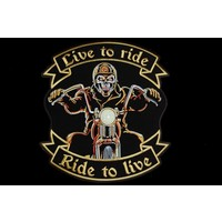 Live to ride biker large