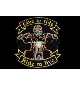Live to ride biker large