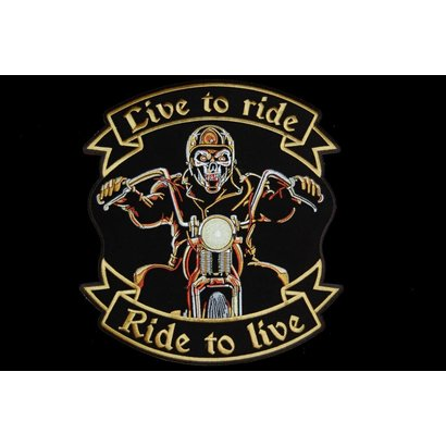 Live to ride biker large 608 E
