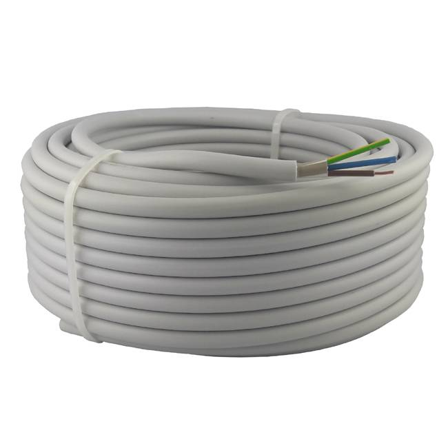Kabel NYM-J 3x1,5 mm² 100m Ring Mantelleitung VDE Geprüft & CE