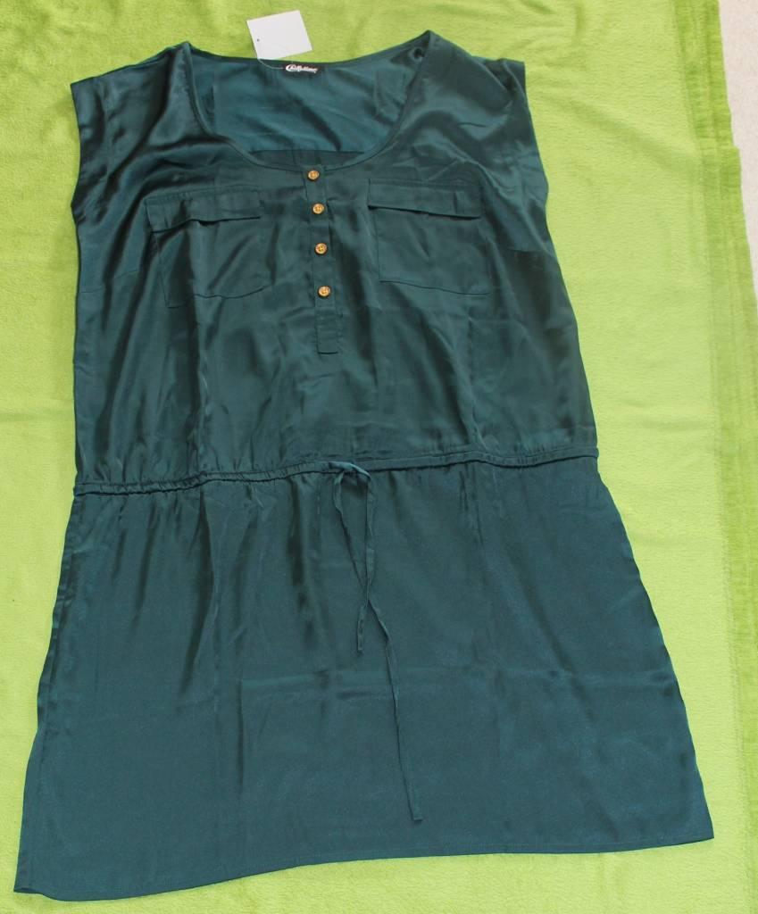 ★ Chillytime ★ Fra 44 ~ grün jade ~ Bluse Tunika ~ Satin-Bluse ~Ohne-arm ~ NEU