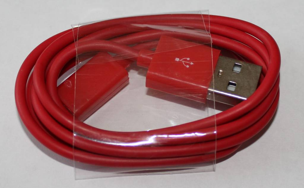Datenkabel, Ladekabel Micro USB Anschluss 1M Rot Für Samsung Handy´s & HTC