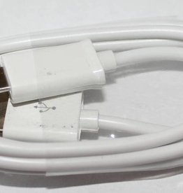 Datenkabel, Ladekabel Micro USB Anschluss 1M Weiß Für Samsung Handy´s & HTC