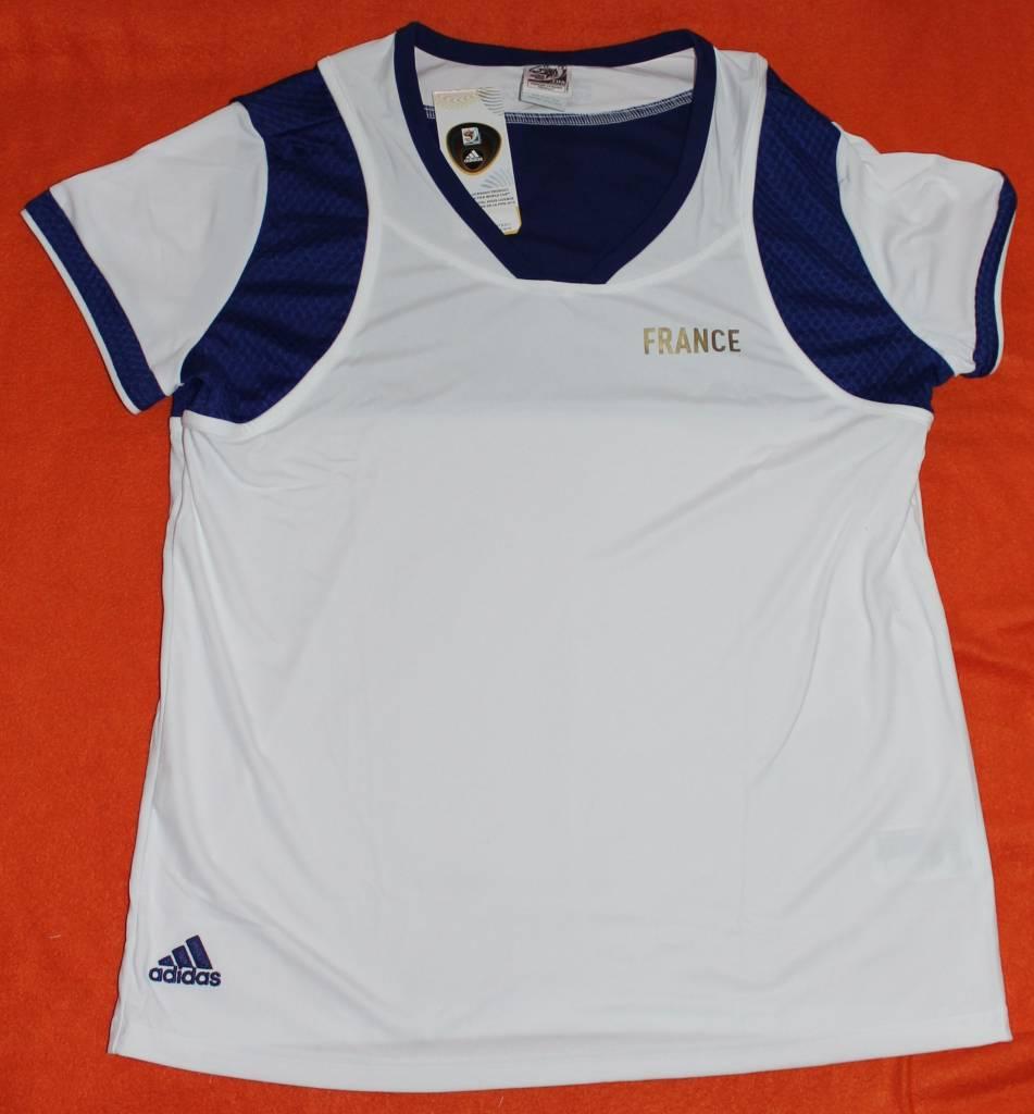 Adidas Adidas Damen T-Shirt Gr. XL FRANCE JSY W blau weiß FIFA World Cup neu mit Etikett