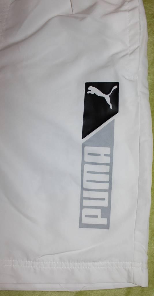 Puma PUMA Herren Hose Sportscasual Logo Bermuda 824029 02, Farbe Weiß