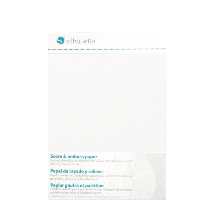 """Score & Emboss Paper (10 sheets, 5"""" x 7"""" = 12.7cm x 17.7cm)-1"""