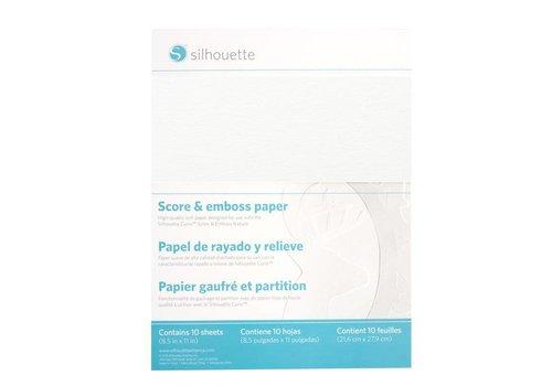 Partitur- und Prägepapier (10 Blatt, 8,5 x 11 Zoll)
