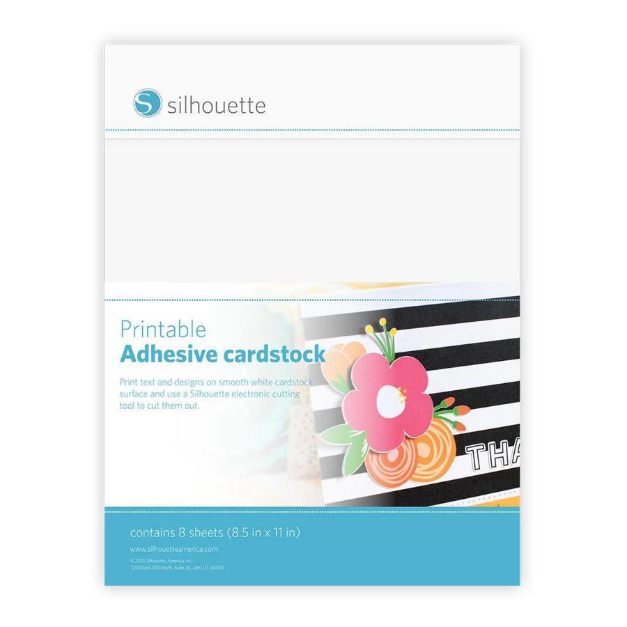 Cardstock Adhésif Imprimable SILHOUETTE-1