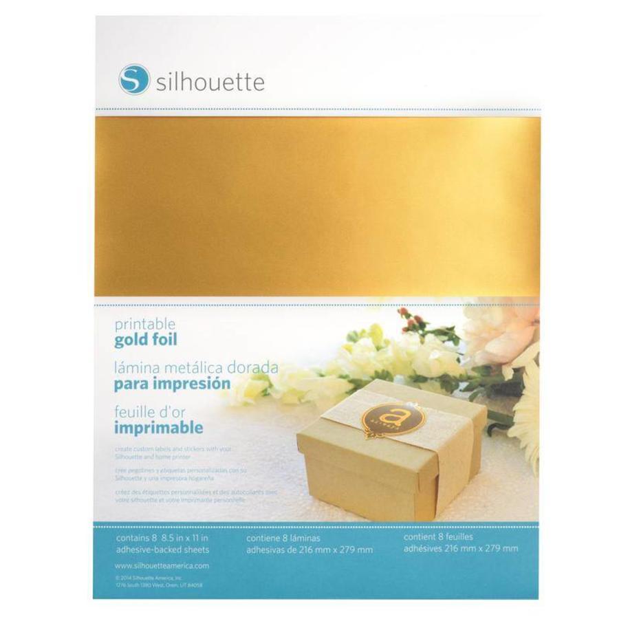Feuille d'autocollant imprimable en or-1