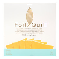 thumb-Foil Quill Sheets 12 x 12 - GOLD FINCH-1