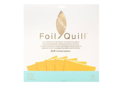 Folienfederblätter 12 x 12 - GOLDFINCH