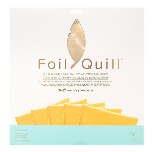Foil Quill Sheets 12 x 12 - GOLD FINCH
