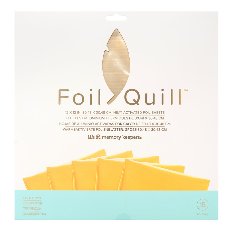Foil Quill Sheets 12 x 12 - GOLD FINCH-1