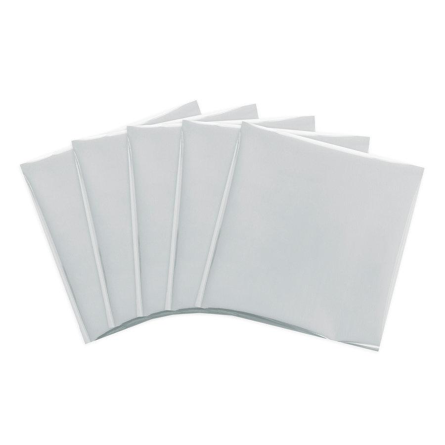 Folien-Federkielblätter 12 x 12 - SILBERNE SCHWANEN-2