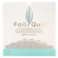 thumb-Foil Quill Sheets 12 x 12 - SILVER SWAN-1