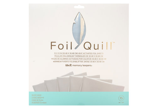 Foil Quill Sheets 12 x 12 - SILVER SWAN