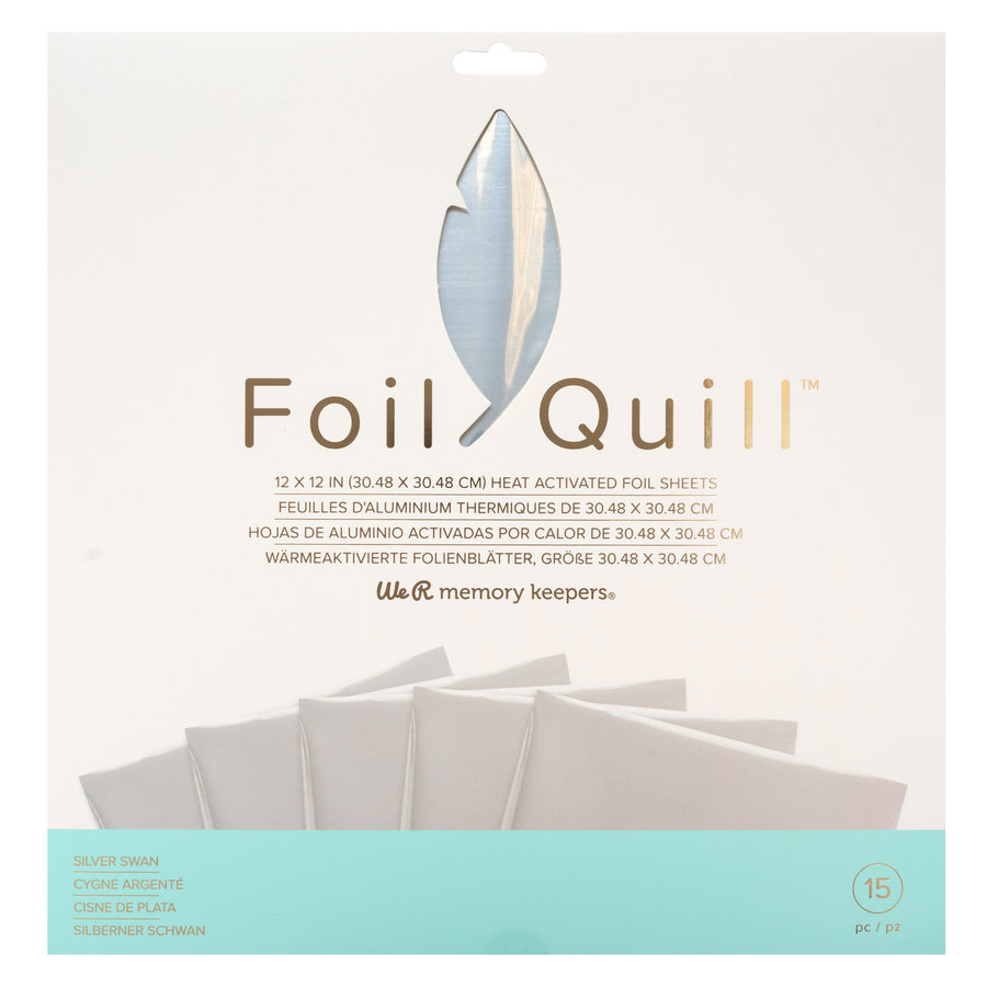 Foil Quill Sheets 12 x 12 - SILVER SWAN-1
