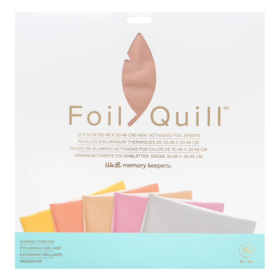 Foil Quill Sheets 12 x 12 - SHINING STARLING-1